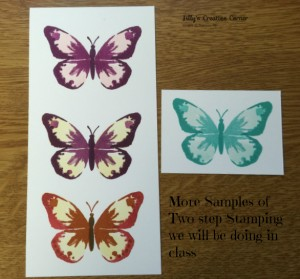 Two Step Stamping Butterflies we are doing in class.