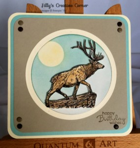Stag- Male card
