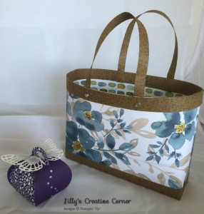 Samples of the Box-bag we will be making in our  April Monthly class