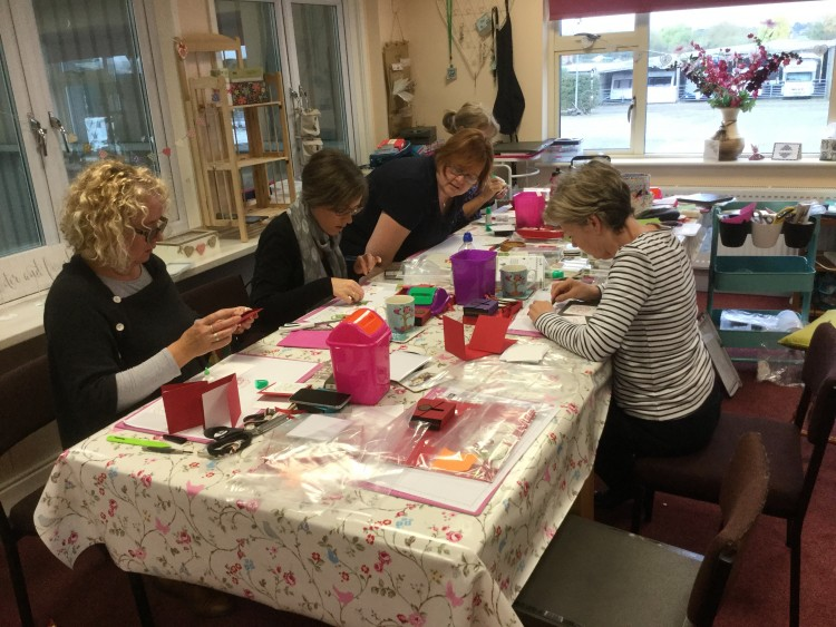 The Ladies all crafting :-)