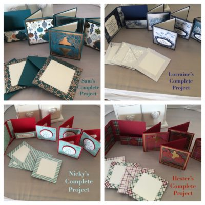 Mini Christmas Cards/envelopes and Cases