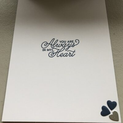 Valentine Card made using Forever & Always bundle from the 'Love You Always Suite'