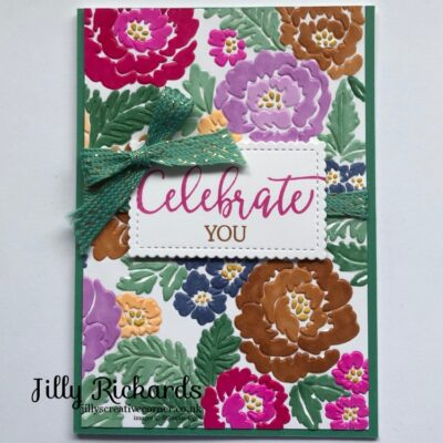 Relax making this beautiful card.