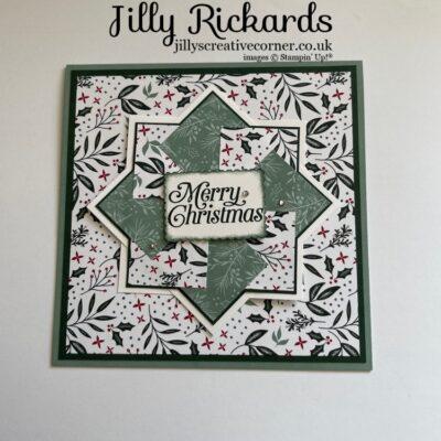 Spinning Pinwheel Christmas card.